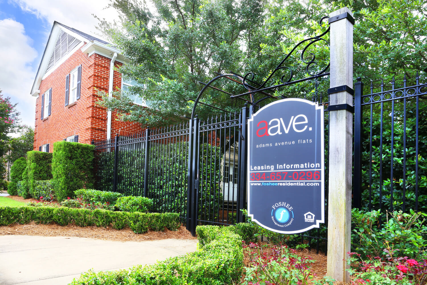 Adams Avenue Flats Designed by Foshee Architecture - View of Entrance Sign