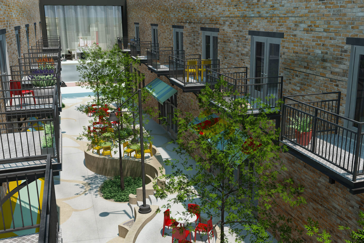 Dexter Alley Park Designed by Foshee Architecture - Exterior Aerial View