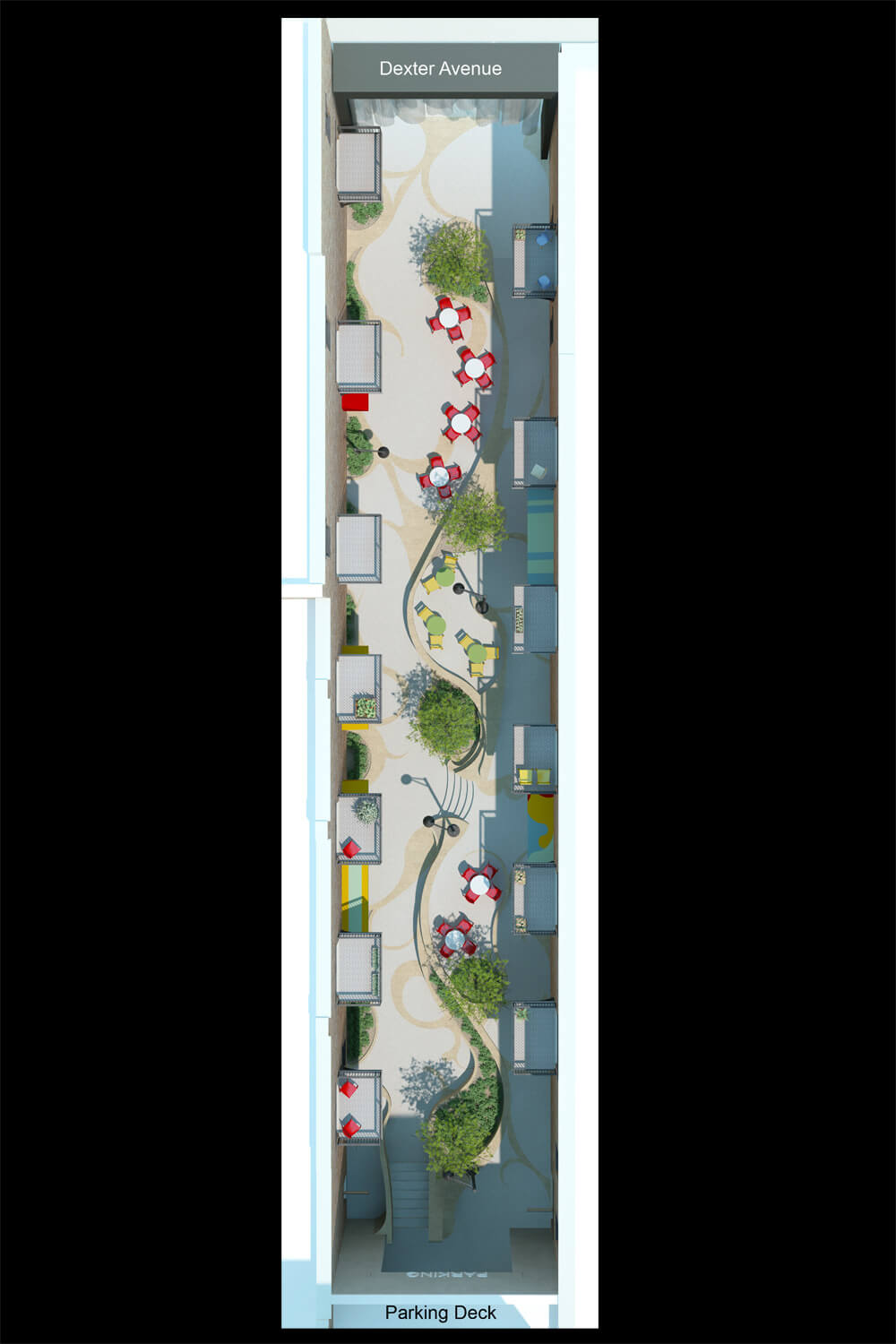 Dexter Alley Park Designed by Foshee Architecture - Overall Floor Plan View