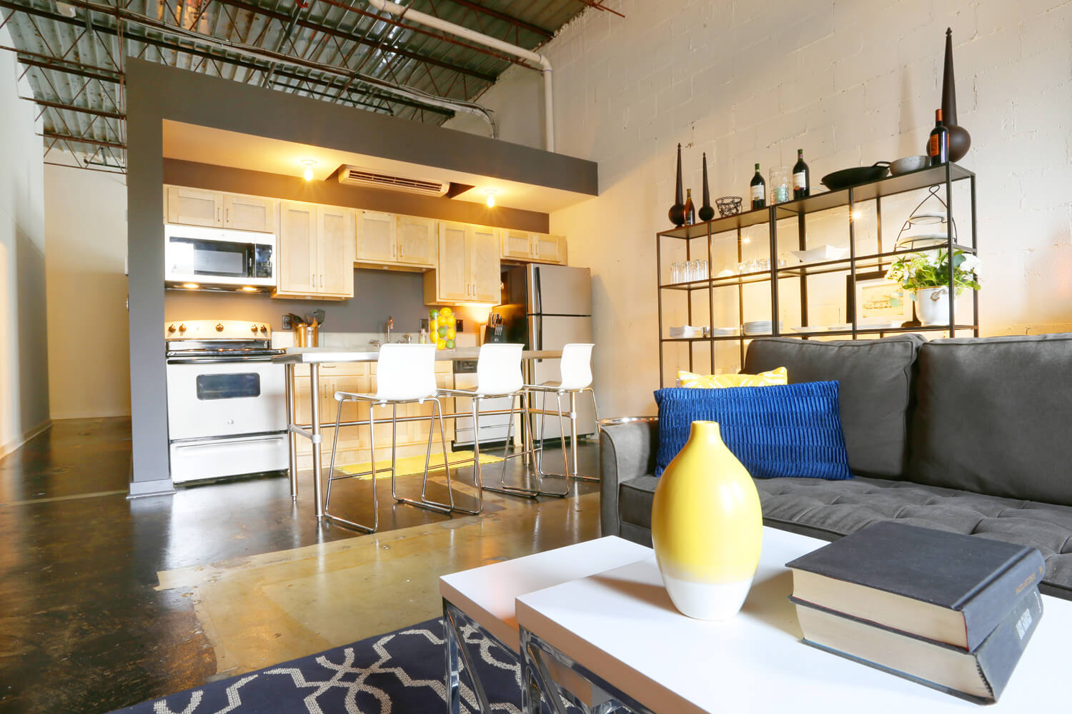 District 36 Lofts Designed by Foshee Architecture - Apartment Kitchen