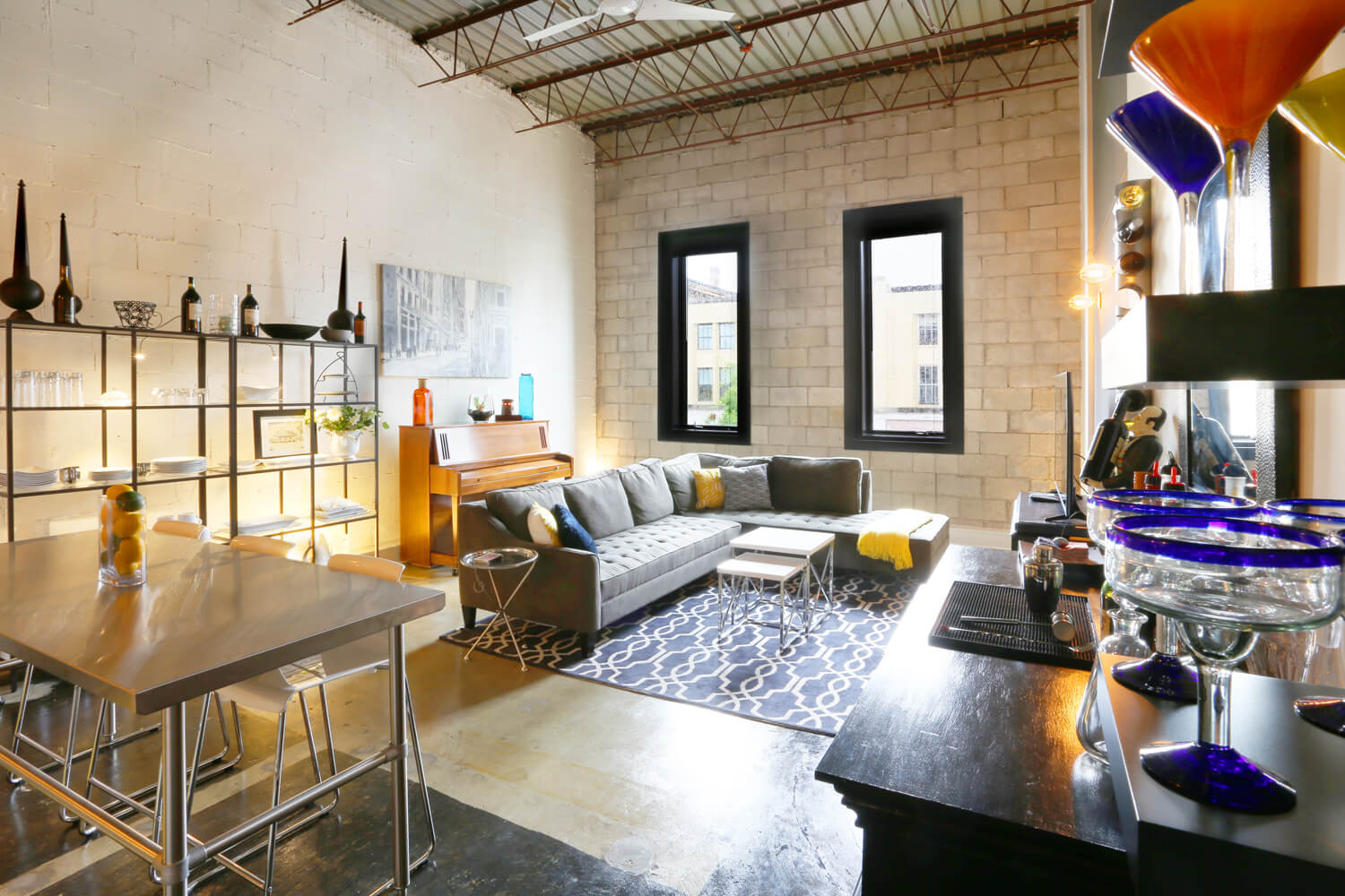 District 36 Lofts Designed by Foshee Architecture - Apartment Living Room