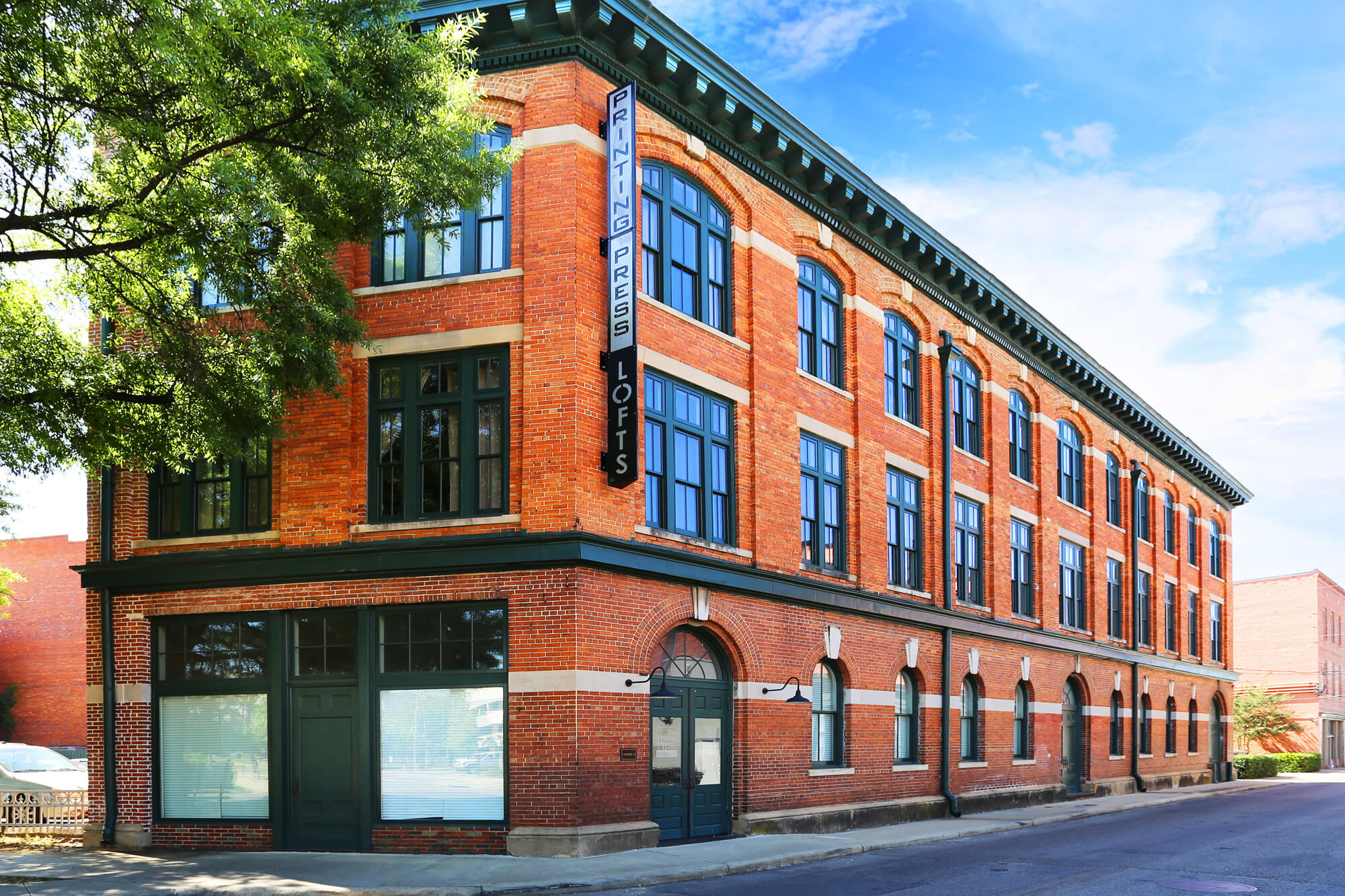 Printing Press Lofts Designed by Foshee Architecture – View of the Exterior
