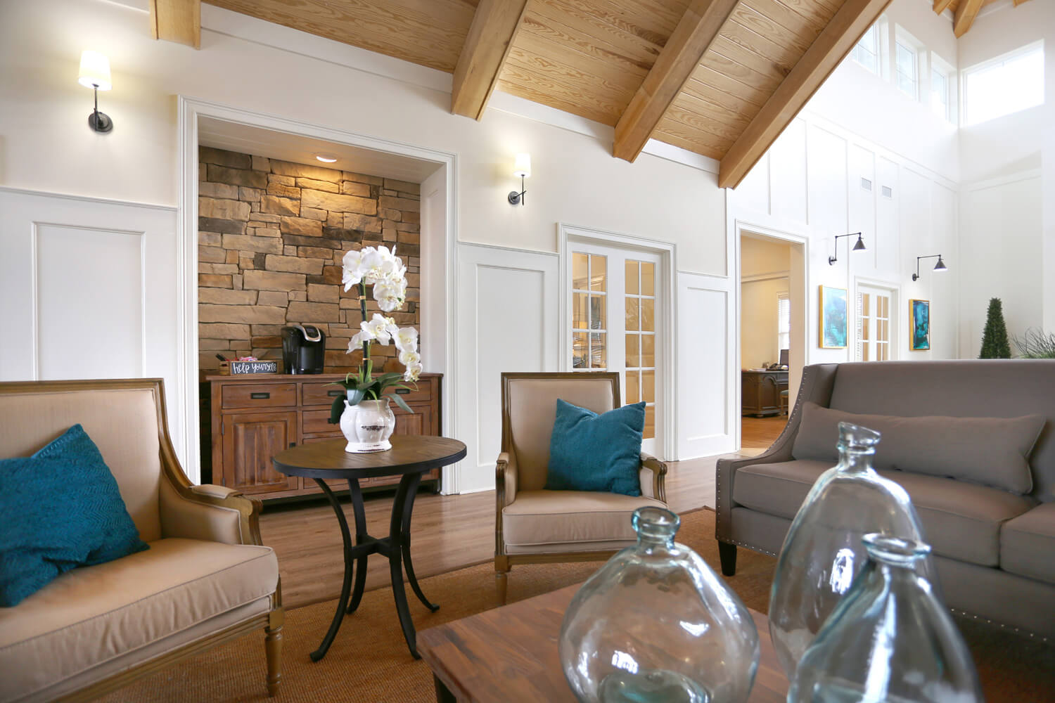 The Morgan Apartments Clubhouse Designed by Foshee Architecture - View of Central Seating Area