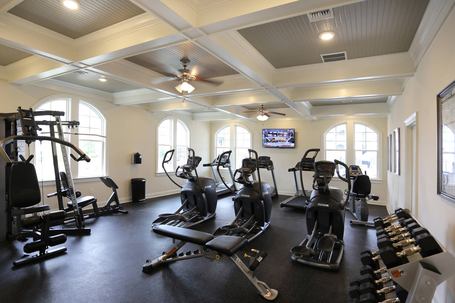 The Morgan Apartments Clubhouse Designed by Foshee Architecture - Fitness Center Room
