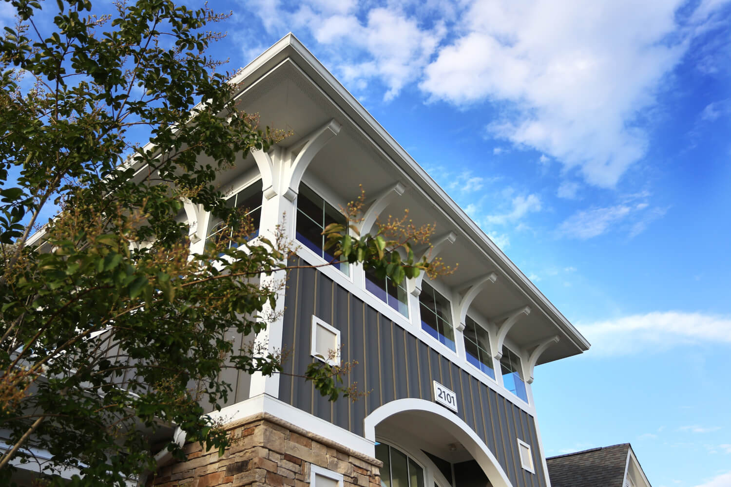 The Morgan Apartments Clubhouse Designed by Foshee Architecture - Exterior View of the Tower