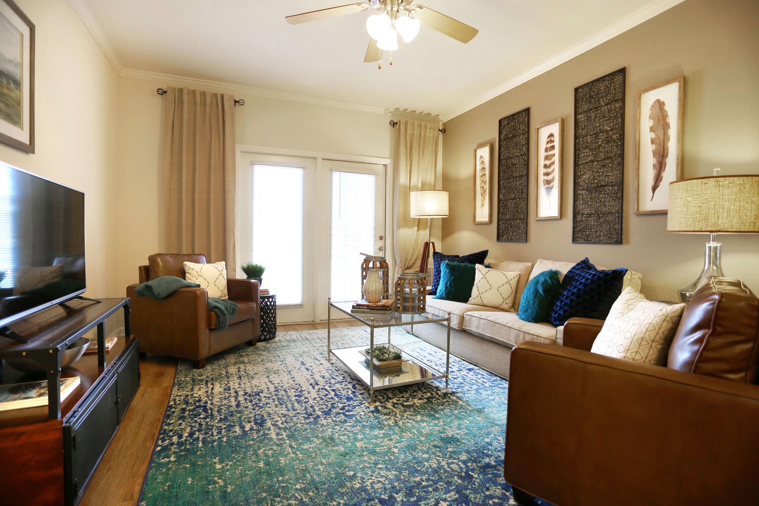 The Morgan Apartments Designed by Foshee Architecture - View of Living Room
