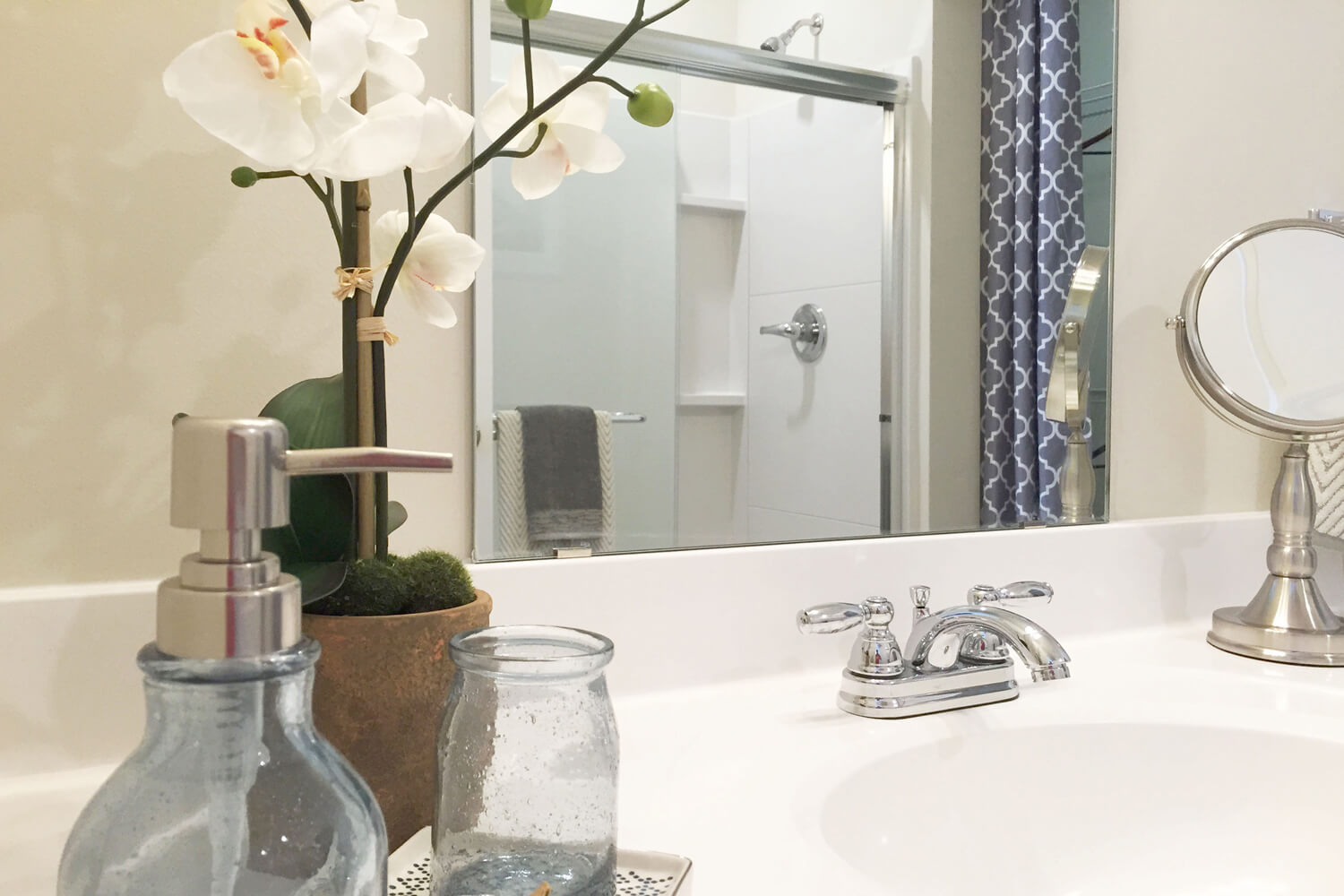 The Morgan Apartments Designed by Foshee Architecture - Master Bathroom Closeup
