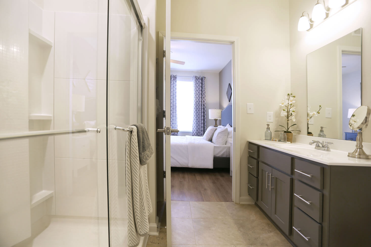 The Morgan Apartments Designed by Foshee Architecture - View of Master Bathroom