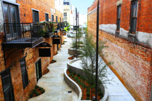 Dexter Alley Park Designed by Foshee Multifamily Architecture - Exterior Aerial View