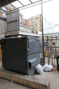 Terrible Dumpster Example - Foshee Multifamily Architecture Insights - DO NOT DO THIS!